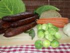 Ferme du caroire - Saucisses de Chèvre et Bœuf Fumées Grosses (x4)