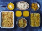 Multiproductions - Cédric Joliveau - Panier Batch Cooking Végétarien Jaune - 5 Plats pour 1 Personne