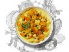 La Brouette - Pour 1 Pers, Curry Doux De Légumes D'hiver, Graines De Courge Et Cranberries
