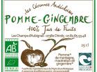 Les Champs d'Aubignas - Jus De Pomme Gingembre 25cL