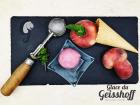 Glace du Geisshoff - Pêche Sanguine Crème Glacée Fermière au Lait de Chèvre 750 ml