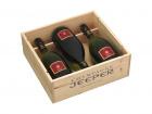 Champagne Jeeper - Coffret Bois 3 Bouteilles Premier Cru