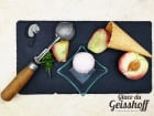 Glace du Geisshoff - Pêche Blanche Crème Glacée Fermière au Lait de Chèvre 750 ml