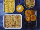 Multiproductions - Cédric Joliveau - Panier Batch Cooking Végétarien Orange - 5 Plats pour 4 personnes