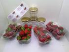 Maison du Pruneau - Coffret DIY - Confiture de Fraises (fruits + pots et étiquettes en cadeau)