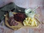 Ferme Chambon - Assortiment Apéro Comté AOP Fruité + Saucisson  de boeuf+ Bresi + Fromage Ail et Persil