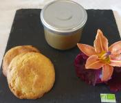 La Ferme du Montet - Compote Pomme - rhubarbe - bio - allégée en sucre