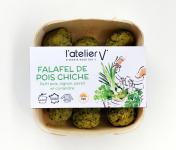 L'Atelier V* - Falafels de pois chiche, petit pois,  oignon, persil et coriandre