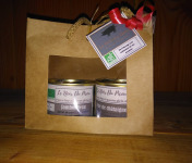 Le Noir du Picou Elodie Ribas - Coffret Deux Produits Noël : Pâté de Porc aux Châtaignes et Jambonneau