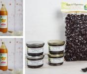 La Ferme de l'Ayguemarse - Lot Apéro 100% Veggie et Sans Alcool : Olives, Tapenade x2, Chutney x2,  Jus d'Abricot x2