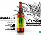 La Roque  Brasserie Bio, paysanne et familiale - Bière Récolte 12x33cl - Brasserie Fermière Bio