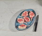 BEAUGRAIN, les viandes bien élevées - Côte d'Agneau Bio d'Auvergne par 2