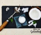 Glace du Geisshoff - Noix de Coco Crème Glacée Fermière au Lait de Chèvre 750 ml