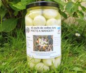Cailles de Chanteloup - LOT 48 oeufs de cailles écalés et cuits + 1 rillettes 90 gr