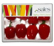 Maison Sales - Végétaux d'Art Culinaire - 13- Mini Poivron Rouge - 8 Pièces