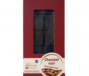 Les amandes et olives du Mont Bouquet - Tablette de Chocolat Noir Nougatine