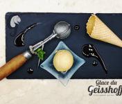 Glace du Geisshoff - Caramel Crème Glacée Fermière au Lait de Chèvre 750 ml