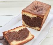 Les Desserts d'Ici - Le Cake Marbré Chocolat-vanille