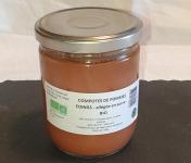 La Ferme du Montet - Compote Pomme - Coings - bio - allégée en sucre