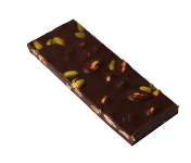 Maison Le Roux - Tablette Chocolat Noir Amandes & Pistaches 62% Cacao