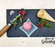 Glace du Geisshoff - Framboise Crème Glacée Fermière au Lait de Chèvre 750 ml