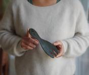 Atelier Eva Dejeanty - Fourchette en Céramique (grès) Modèle Cellule