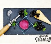 Glace du Geisshoff - Cassis Crème Glacée Fermière au Lait de Chèvre 750 ml
