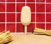 La Fraiseraie - Bâtonnet Fraise Enrobage Chocolat Blanc