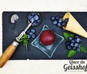 Glace du Geisshoff - Myrtille Crème Glacée Fermière au Lait de Chèvre 750 ml