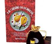 """Le safran - l'or rouge des Ardennes - Pack Livre """"La cuisine du bonheur"""" et Safran sec en filaments :0.25gr"""