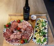 Gourmets de l'Ouest - Plateau apéro charcuterie - Tomme lait cru - courges toastées - Bière de Saint-Malo