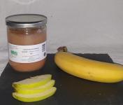 La Ferme du Montet - Compote Pomme - Banane - bio - allégée en sucre