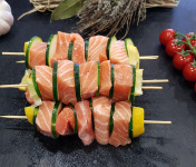 Poissonnerie Le Marlin - Brochette De Saumon - 4 Pièces De 200g