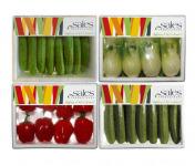Maison Sales - Végétaux d'Art Culinaire - Composition Mix De Mini Légumes - 4 Barquettes