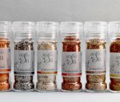 Artisans du Sel - Lot De 6 Moulins De Sel Fin De Guérande Aromatisé Bio