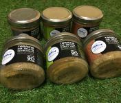 Pisciculture des eaux de l'Inval - 3 Terrines 90 Gr (olive Noire, Curry Vert, Poivre De Sechuan)