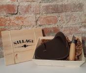 Sillage Maroquinerie - Coffret Gant Huîtrier Noisette (gant + couteau à huîtres) - Pour Droitier