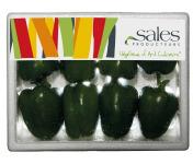 Maison Sales - Végétaux d'Art Culinaire - 14- Mini Poivron Vert - 8 Pièces