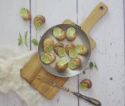 Limero l'Escargot Mayennais - Lot De 10 Assiettes De 12 Coquilles D'escargot Gros Gris À La Bourguignonne