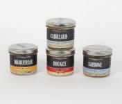 La Chikolodenn - Rillettes Bio : Sardine, Maquereau, Cabillaud, Rouget
