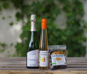 Domaine de l'Ambroisie - Coffret Cadeau Ensemble Pour Kir : Enigme, Crème De Mirabelle bio Et Mirabelles Séchées bio