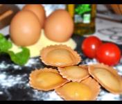 Les Pâtes Côté Mont Blanc - Ravioli Tomates Basilic Et Mozzarelle De Buflonne Bio