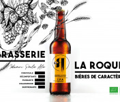 La Roque  Brasserie Bio, paysanne et familiale - Bière I.P.A 6x75cl - Brasserie Fermière Bio