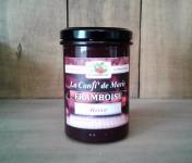 Le Domaine du Framboisier - Confiture allégée en sucre Framboise et Rose 250g