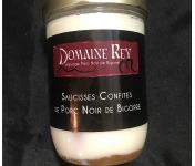 Marie et Nicolas REY - Domaine REY - Saucisses Confites de Porc Noir de Bigorre AOP