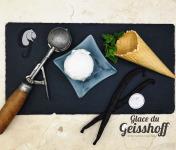 Glace du Geisshoff - Vanille de Tahiti Médaillé d'Argent Crème Glacée Fermière au Lait de Chèvre 750 ml