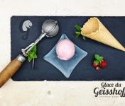 Glace du Geisshoff - Fraise Crème Glacée Fermière au Lait de Chèvre 750 ml