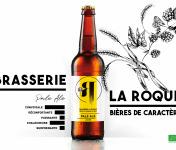 La Roque  Brasserie Bio, paysanne et familiale - Bière Pale Ale 6x75cl - Brasserie Fermière Bio