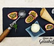 Glace du Geisshoff - Fruit de La Passion Crème Glacée Fermière au Lait de Chèvre 750 ml