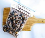 La Ferme Enchantée - [SURGELÉ] 100 Escargots Petits Gris Blanchis avec Coquilles